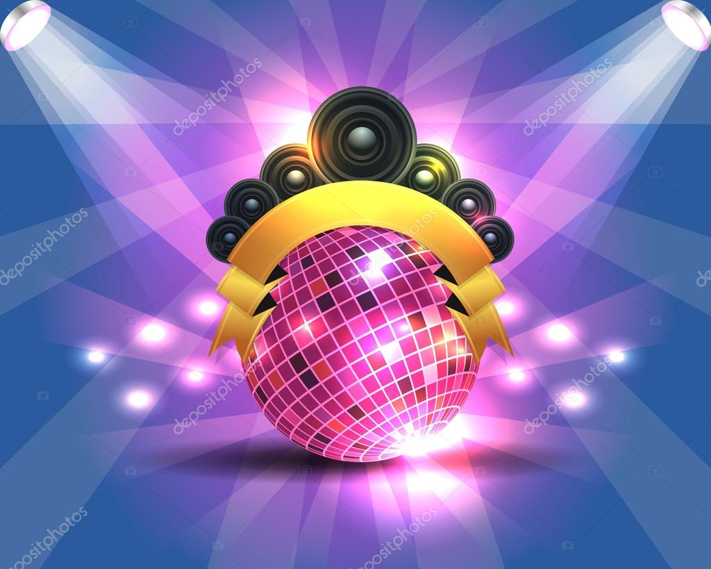 Dance Party Banner Background Flyer Templates Vector