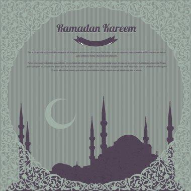 Ramadan Kareem Vector Design Old Paper Background