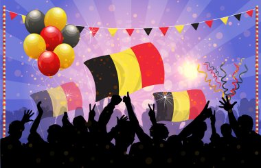 National Celebration Vector Belgium