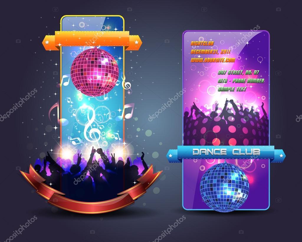 Dance Party Banner Background Flyer Templates Vector Design Stock Vector C Vectorweb 14793815