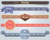 webes elemek vektor fejléc  navigációs sablonok beállítása