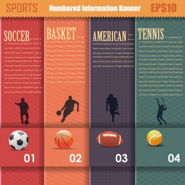 Vector Sports Background Number Options Banner & Card Vertical Style