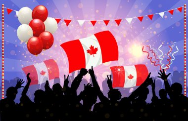 National Celebration Vector Canada