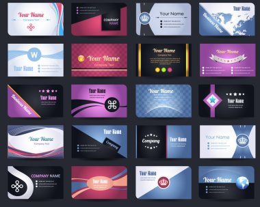 20 Premium Business Card Design Vector Set