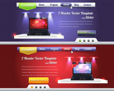 Website Header Slider Vector Design