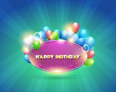 Vector Illustration of Happy Birthday Design Background