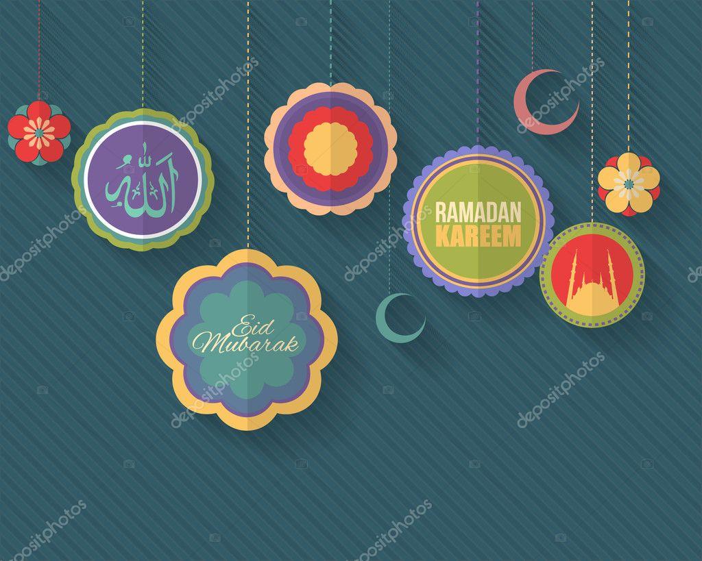 Ramadan Kareem Islamitische Heilige Nachten Thema Vector