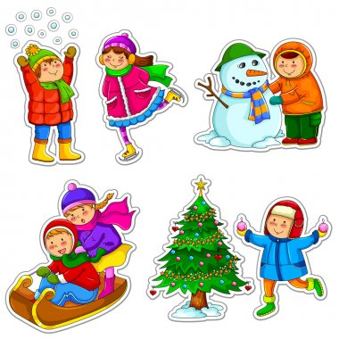 Kids in winter