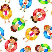 Fotografie schwimmende Kinder Muster