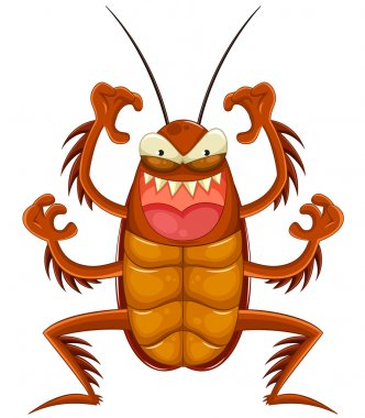 Cartoon cockroach
