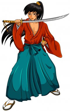 Cartoon samurai
