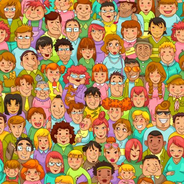 Cartoon people pattern