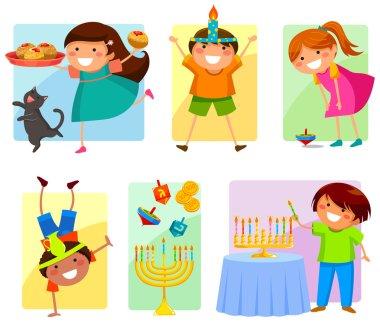 Kids on Hanukkah