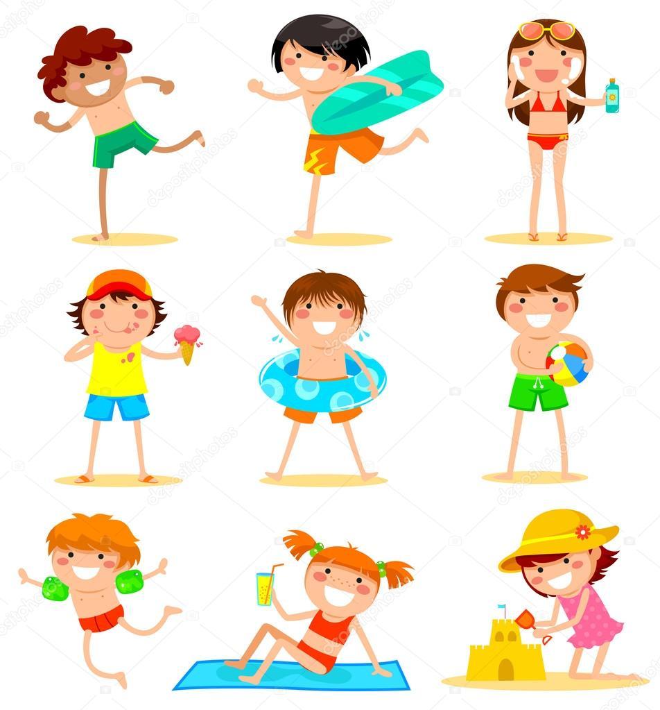 Výsledek obrázku pro děti v létě ilustrace