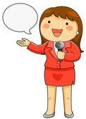 televizní reportérka