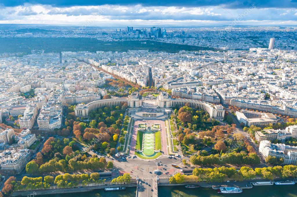 View of Paris from the Eiffel tower.