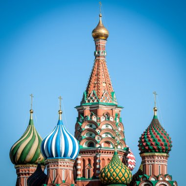 St. Basil Cathedral, Moscow, Russia.