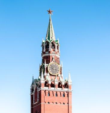 Spasskaya tower of Moscow Kremlin in Russia.