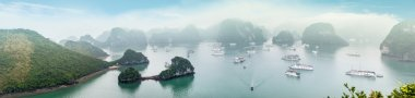 Scenic top view of Halong Bay