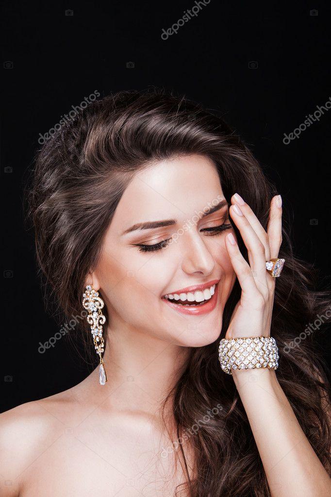 happy fashion model