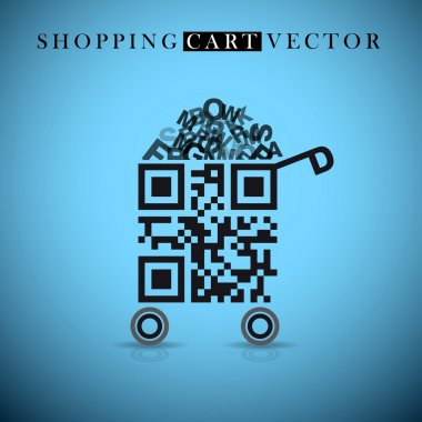 Shopping cart made from QR-code