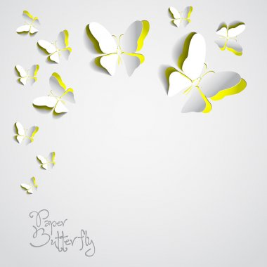 Greeting card with paper butterfly
