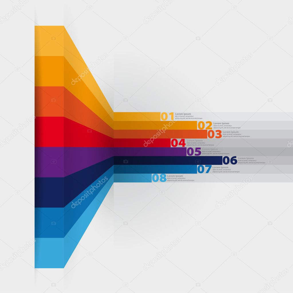 vector web design template - horizontal lines in perspective