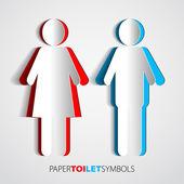 Fotografie symboly toaletního papíru