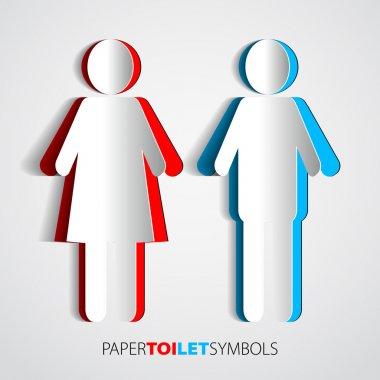 Paper toilet symbols