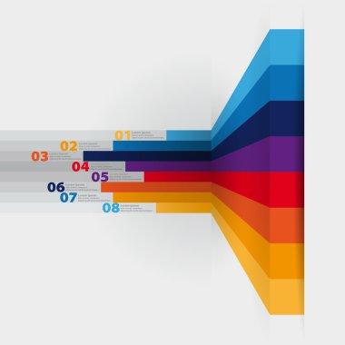 Vector web design template - horizontal lines in perspective clip art vector
