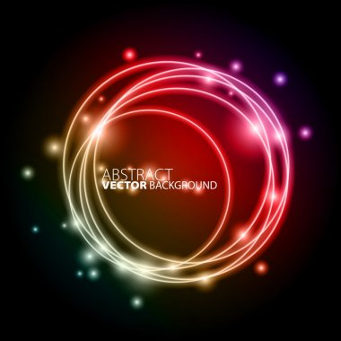 Circles of light with Colours Background
