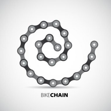 Bicycle chain in spiral
