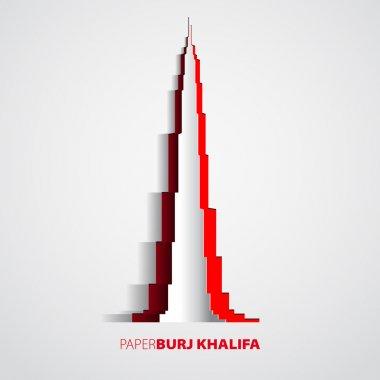 Burj Khalifa tower from paper