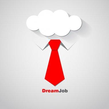 Dream job - conceptual logo