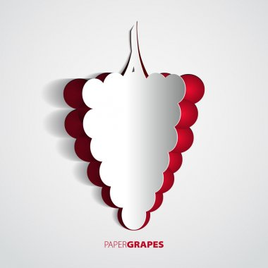 Paper grape cutout