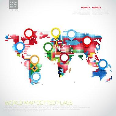 Infographics World map