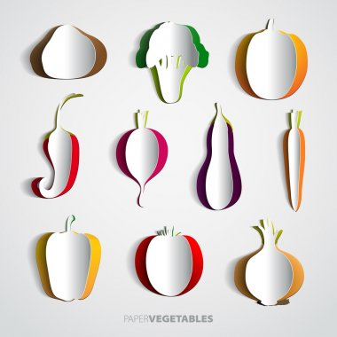Paper vegetable Set