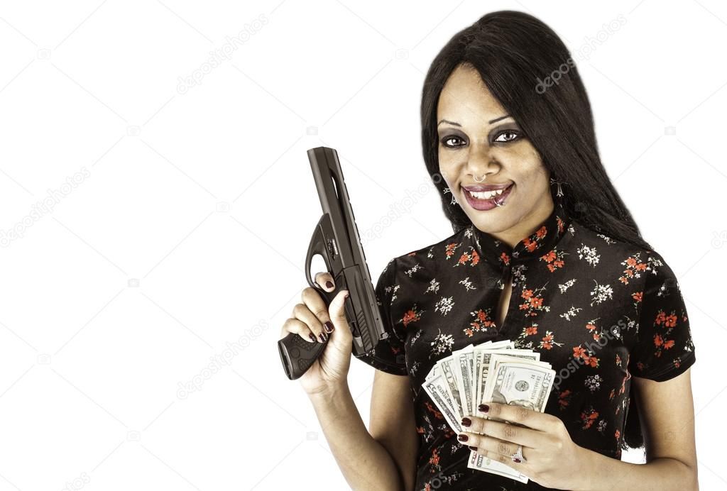 sexy-woman-holding-cash