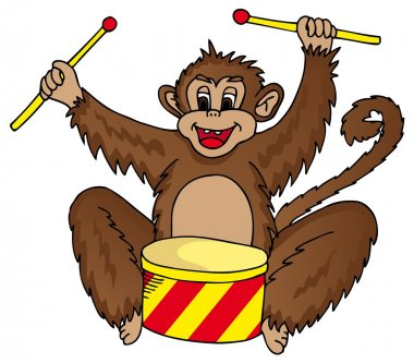 Monkey with drum