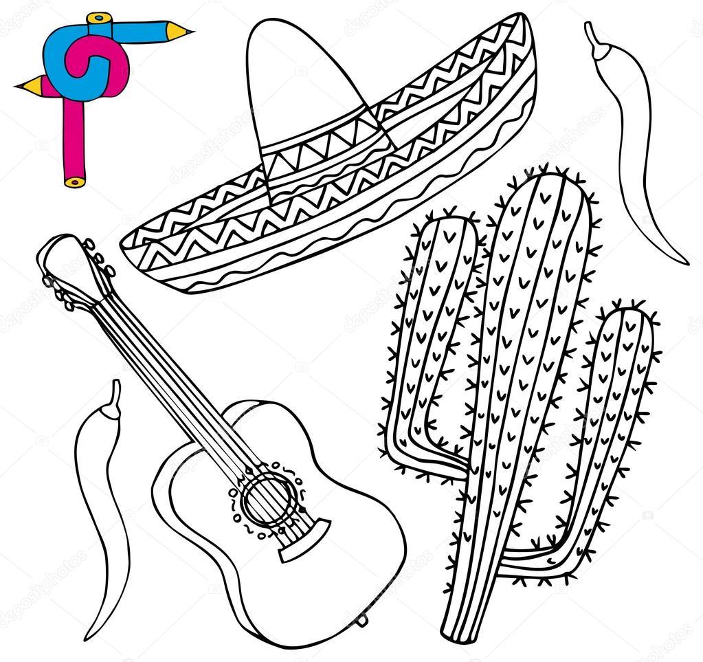 Dibujos Chiles Mexicanos Para Colorear Colección De México