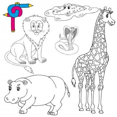 Coloring image wild animals 01