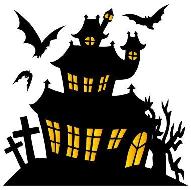 Silhouette spooky house 01
