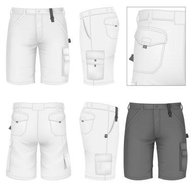 Men's Bermuda shorts design templates