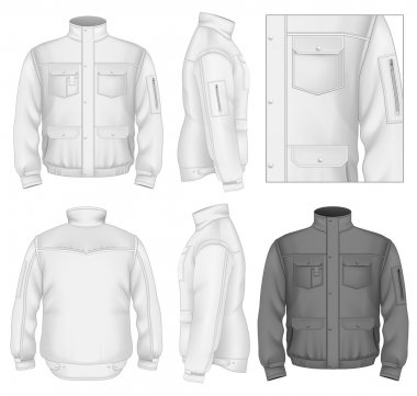 Men's flight jacket design template