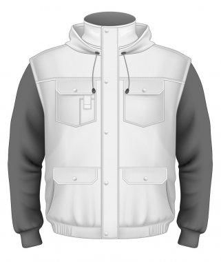 Men's hooded bodywarmer with sweater