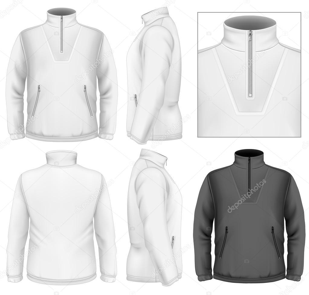 Men's fleece sweater — Stock Vector © ivelly #33447895