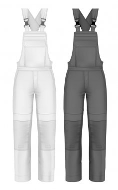 Men's overalls design