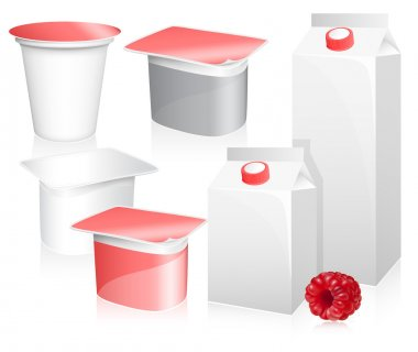 Blank milk and yoghurt packs