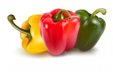 Ripe colored peppers.