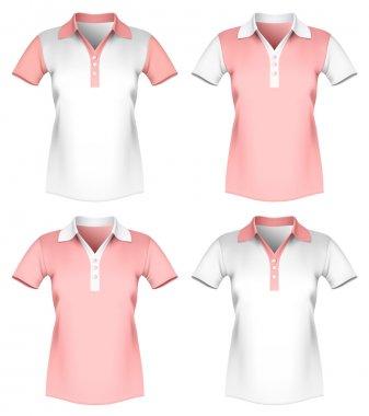 Women polo shirt template.